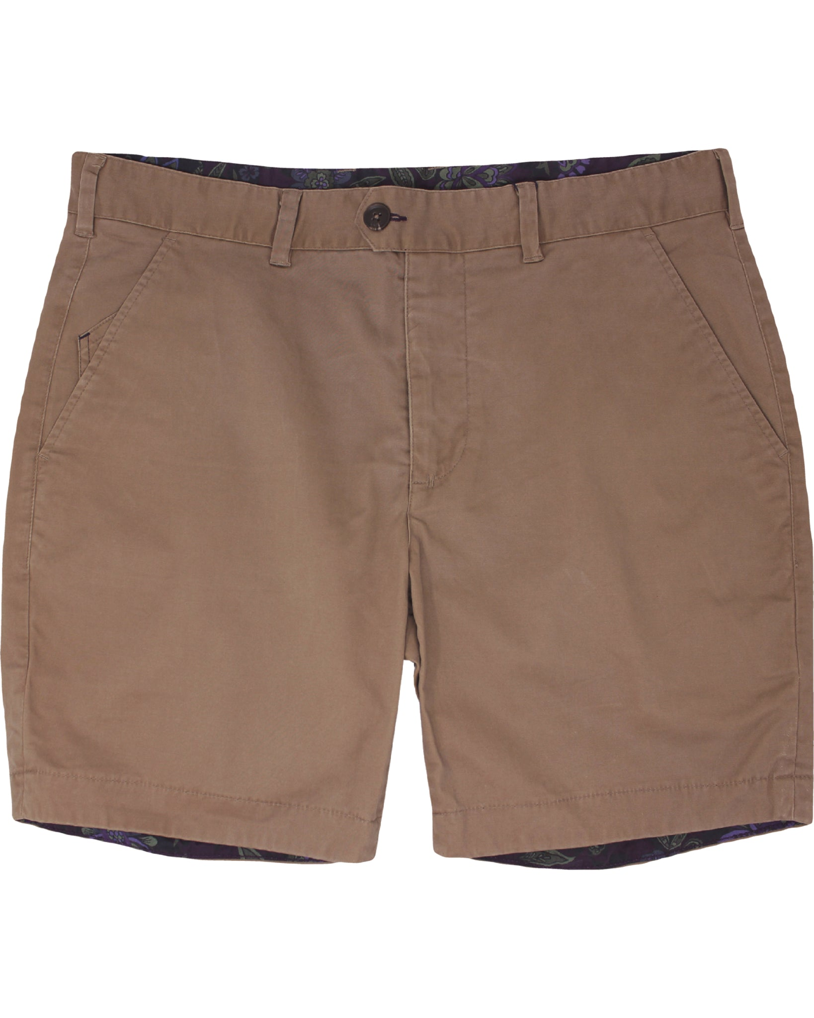 John Solid Flat Front Short: Tan