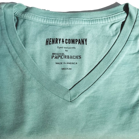 South Seas V Neck: Seafoam