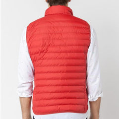 Ultra-Light Quilted Down-Alt Vest: Red