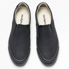 Hawthorne Slip On Standard: Black Poplin