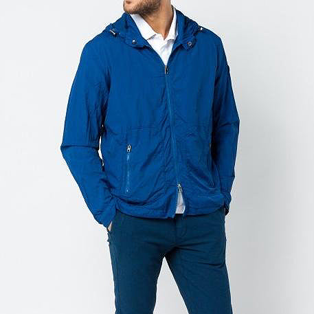 Montreal Hooded Windbreaker: Marine