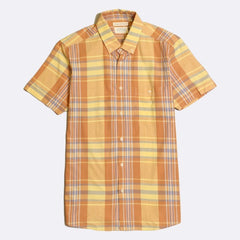 Plaid Shirt S/S: Orange/Yellow