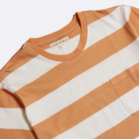 Bold Stripe Tee S/S: Orange