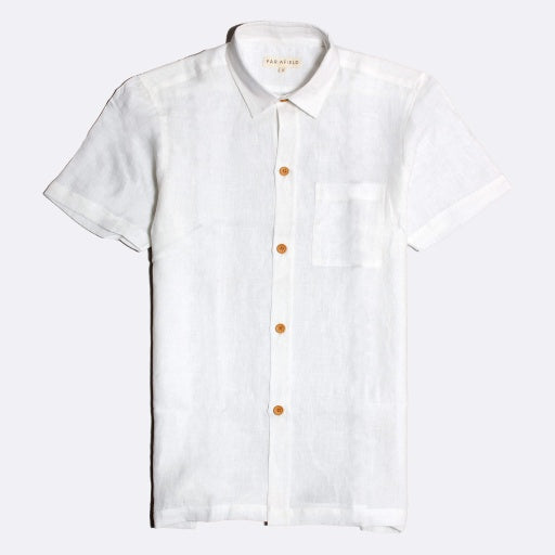 Costa Linen Shirt S/S: White