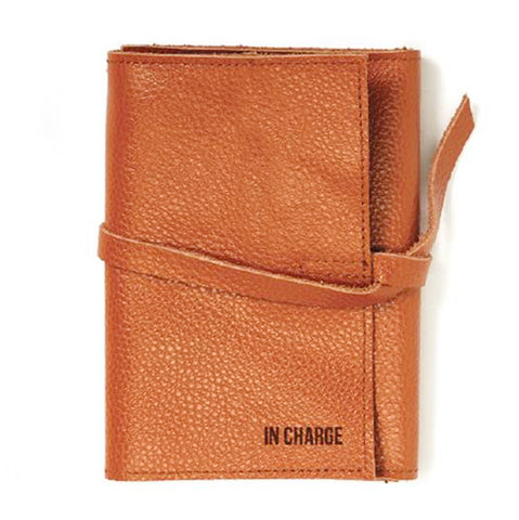 "Leather Charger Roll Up: ""In Charge"" (Brown)"