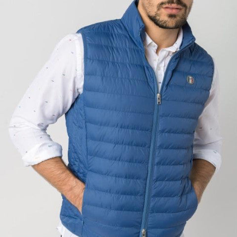 Ultra-Light Quilted Down-Alt Vest: Indigo