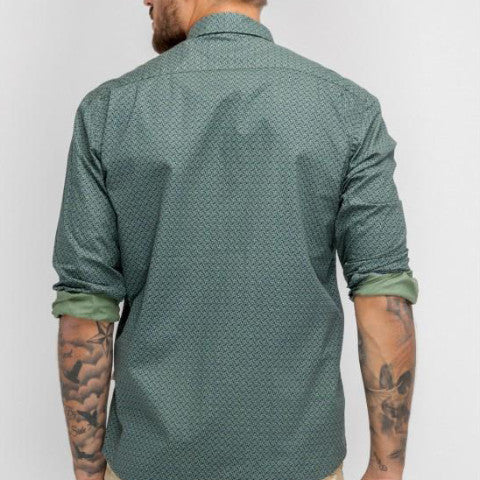 Minimalist Patterns Shirt: Grass