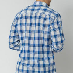 Checked Shirt: Glacier