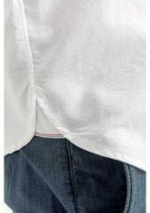 Pocket Shirt With Selvedge Trim: White