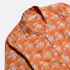 Stachio Bud Print Shirt S/S: Thrush Brown