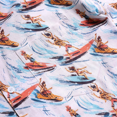 Stachio SlipstreamPrint Shirt S/S: White Sand