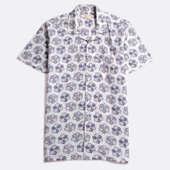 Selleck Floral Patch Print Shirt S/S: White