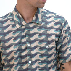 Selleck Wavista Print Shirt S/S: Blue