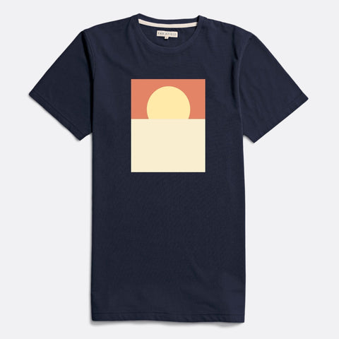Sunset Graphic Tee S/S: Blue