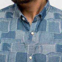Denim Patchwork Shirt: Chambray
