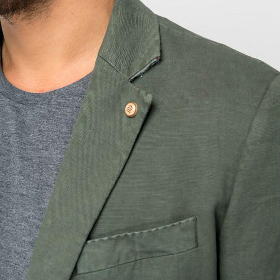 "Linen And Cotton Jacket ""Newton"": Ranger"