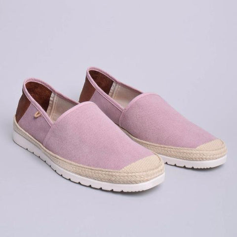 Barrie Canvas Jute Wrapped Slip On: Pink