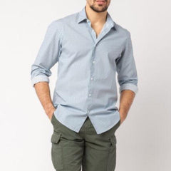 Minimalist Patterns Shirt: Navy