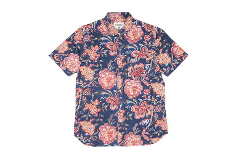 Don Floral Shirt S/S: Navy
