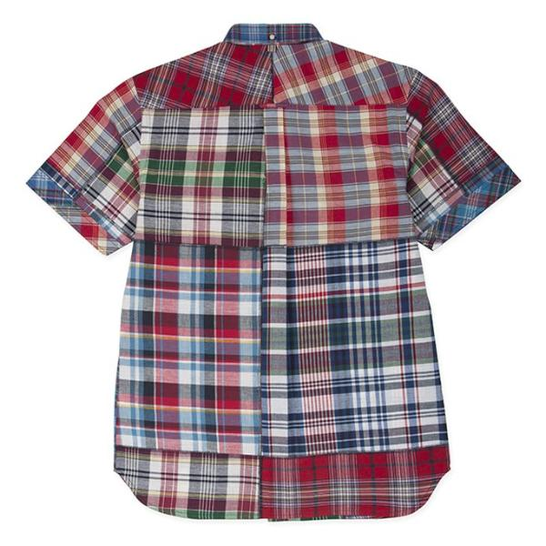 Don S/S Shirt: Madras Reds