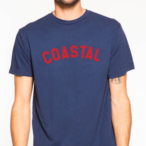 Coastal Tee: Navy/Red