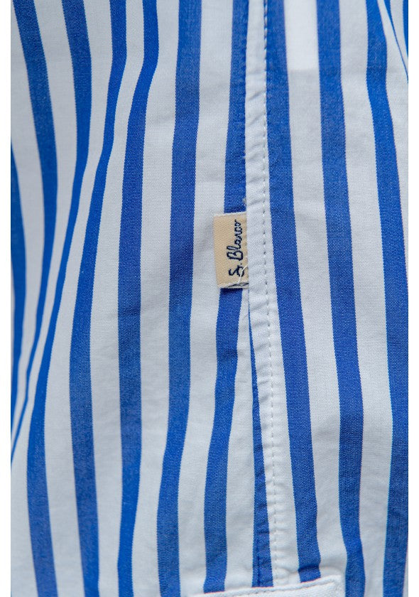 Multi Striped Shirt: Indigo