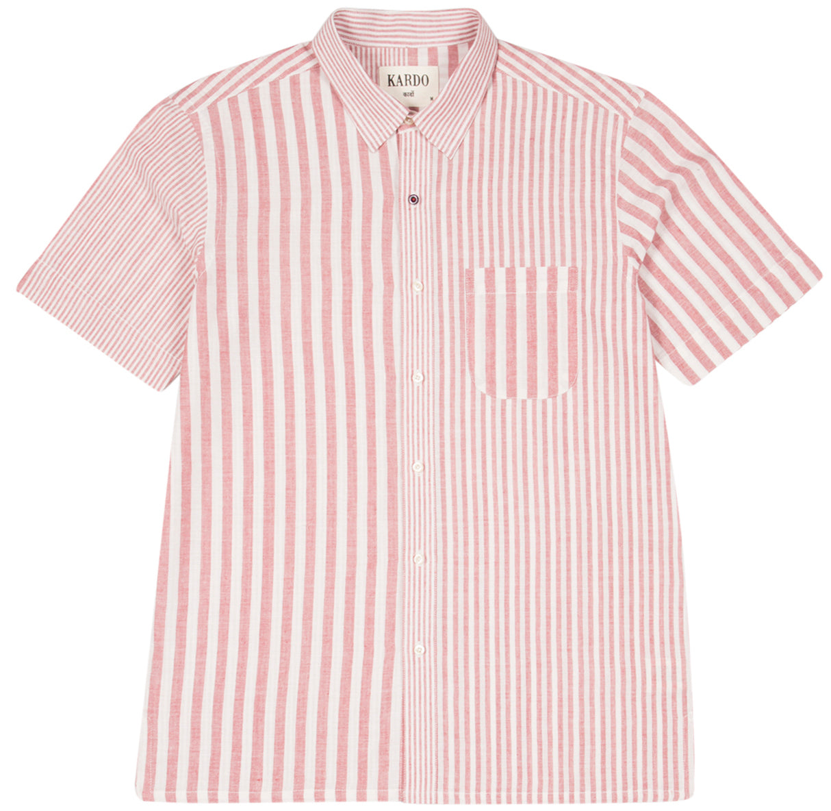 Franklin Vertical Stripe Shirt S/S: Pink