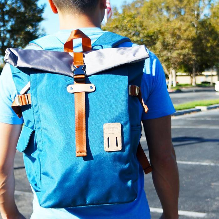 Rolltop Backpack 2.0:  Arctic Blue