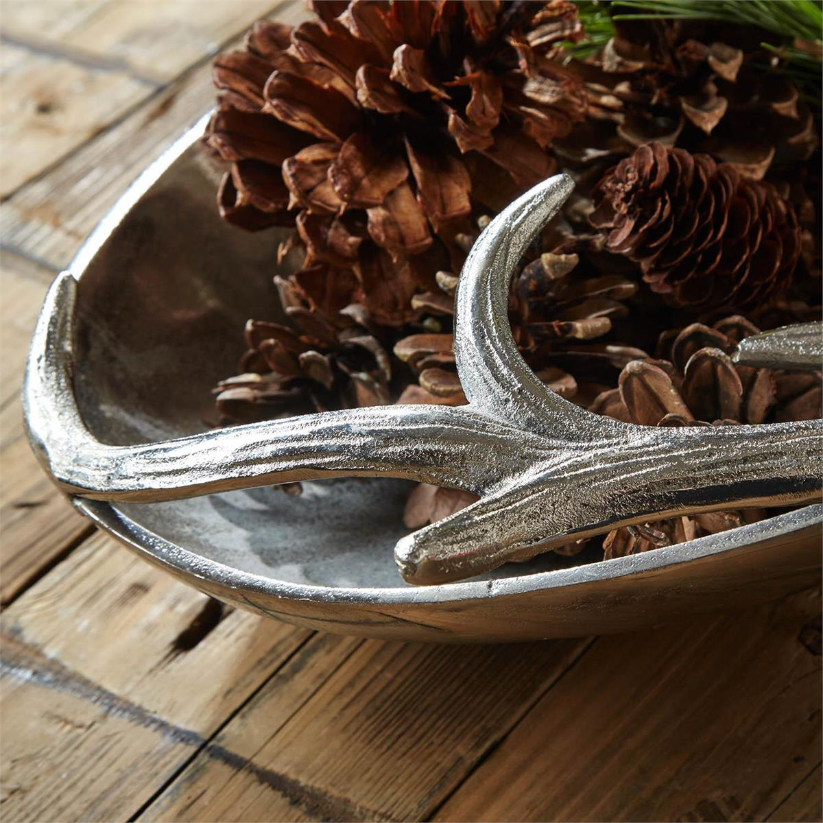 Silver Antler Tray: Large