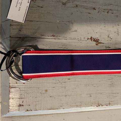 Ribbon Belt: Red/Navy