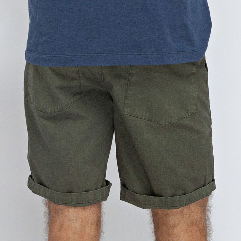 Chevron Bermuda Shorts: Army