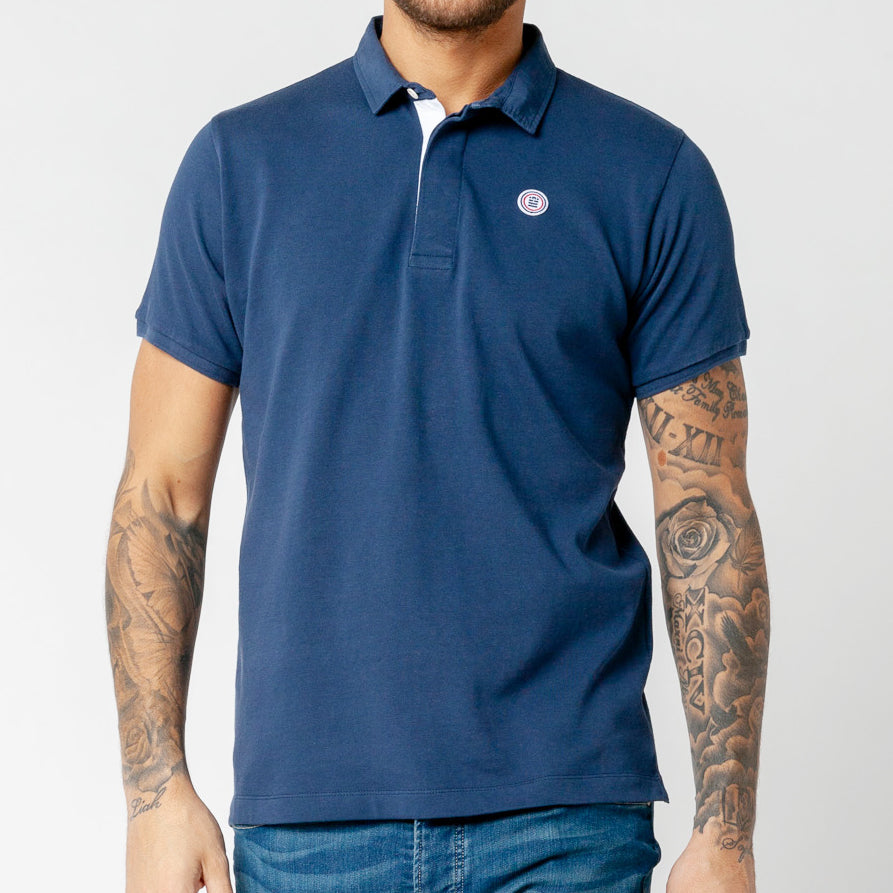 Jersey Polo: Blue