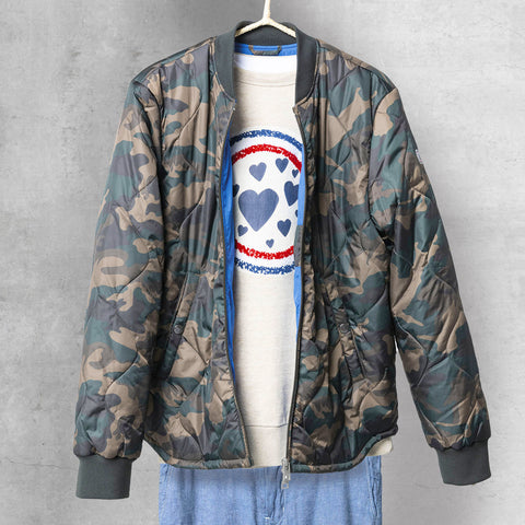 Paul Quilted Down-Alt Jacket: Camo