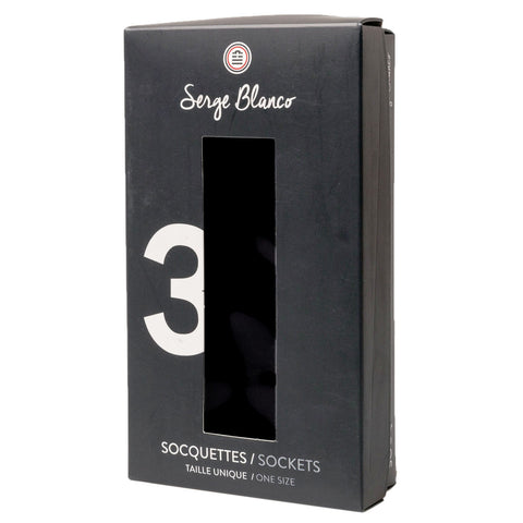 No Show Socks: Black 3-Pack