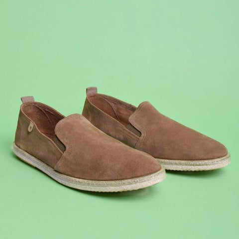 Tom Suede Loafers: Taupe