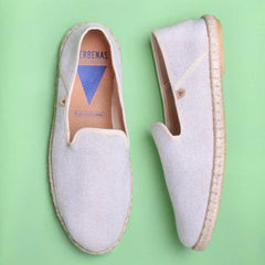 Trevor Chevron Canvas Slip On: Beige