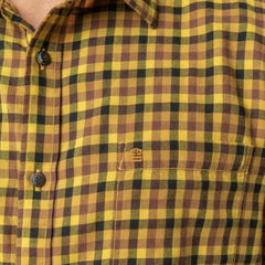 Mini Check Shirt: Gold