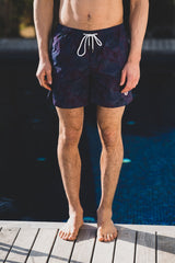 Maui Swim Short Floral: Navy