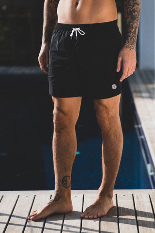 Maui Solid Swim Short: Black