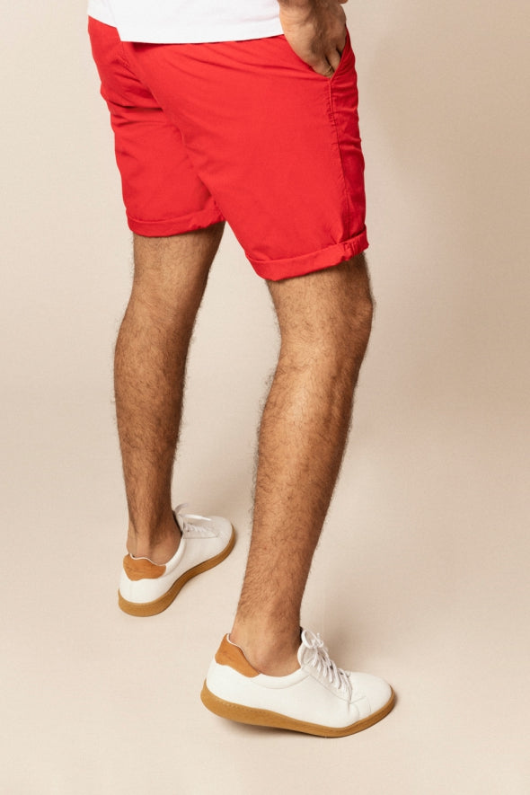 Chino Bermuda Short: Red