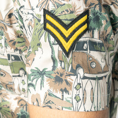 Malibu Print S/S Shirt w Military Badge