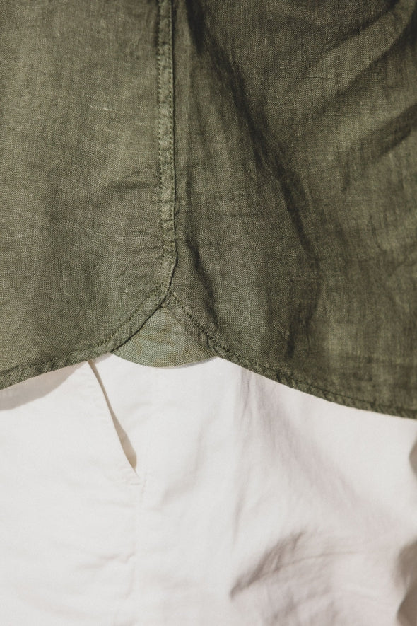 Solid Linen Shirt L/S: Army