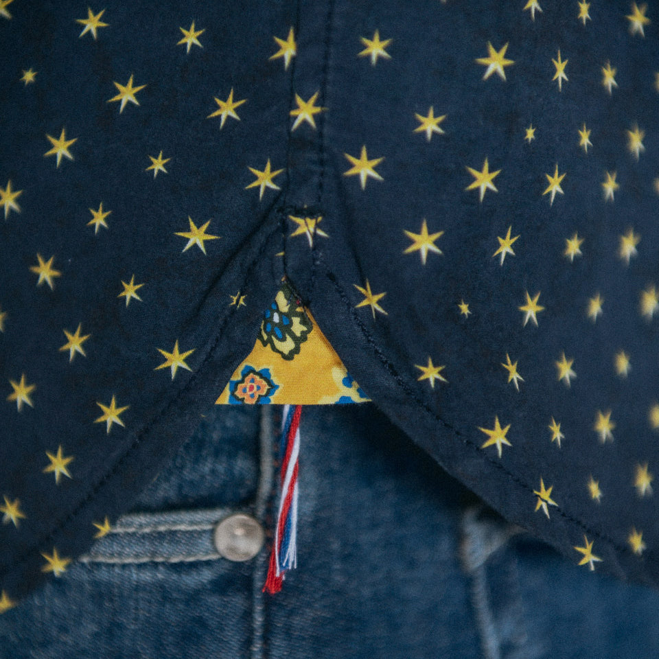 Gold Stars Shirt L/S: 595 Nuit (Night)