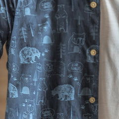 Bear Shirt L/S: Indigo