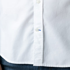 Cockerel Embroidered Shirt: White