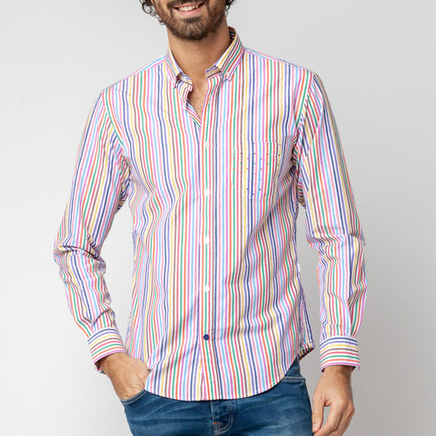 Acidule Shirt: Multicolor Stripe
