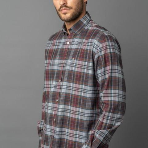 Checked Shirt: Grey