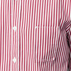 Striped Shirt with Yokes: Burgundy