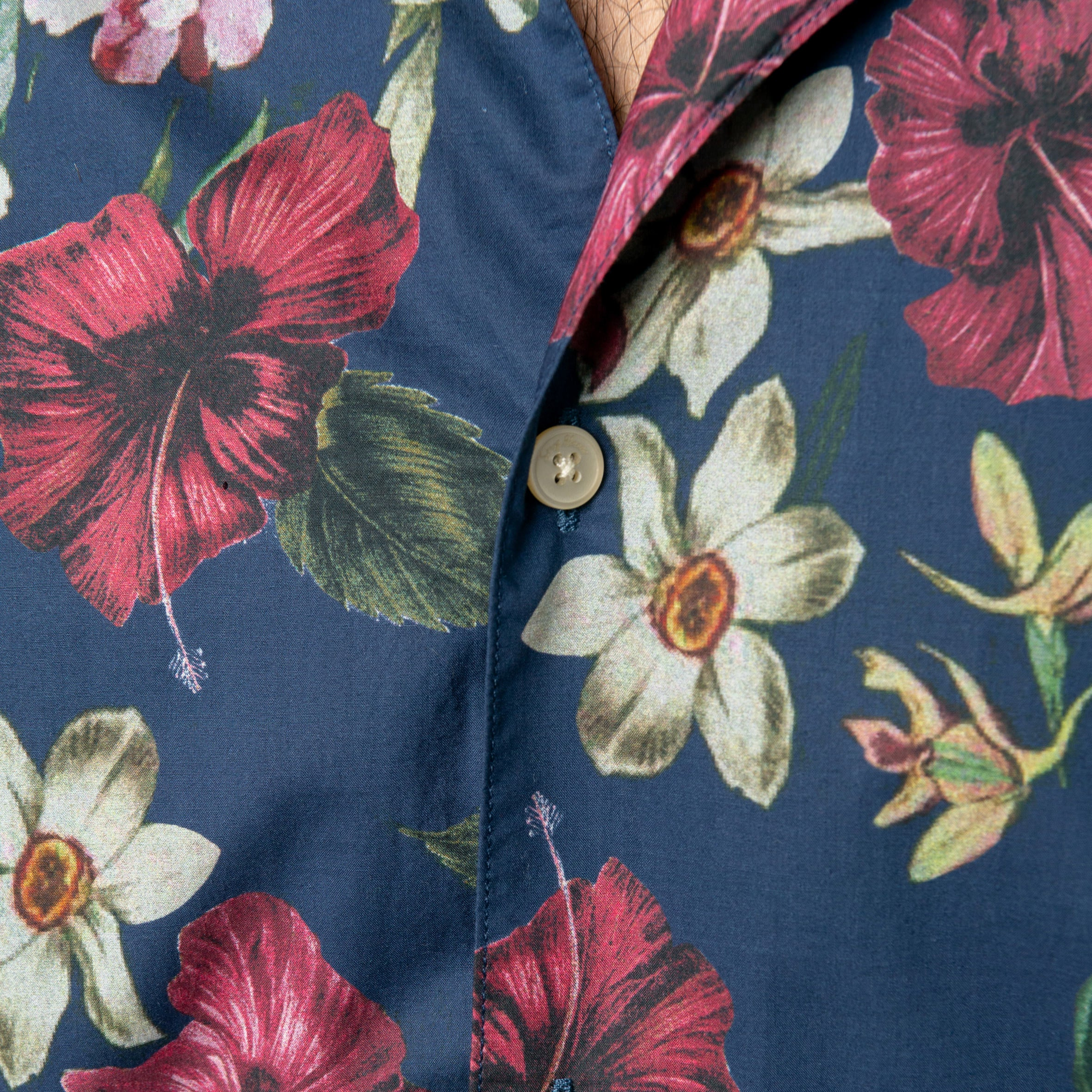 Tropical Floral Shirt: Ink