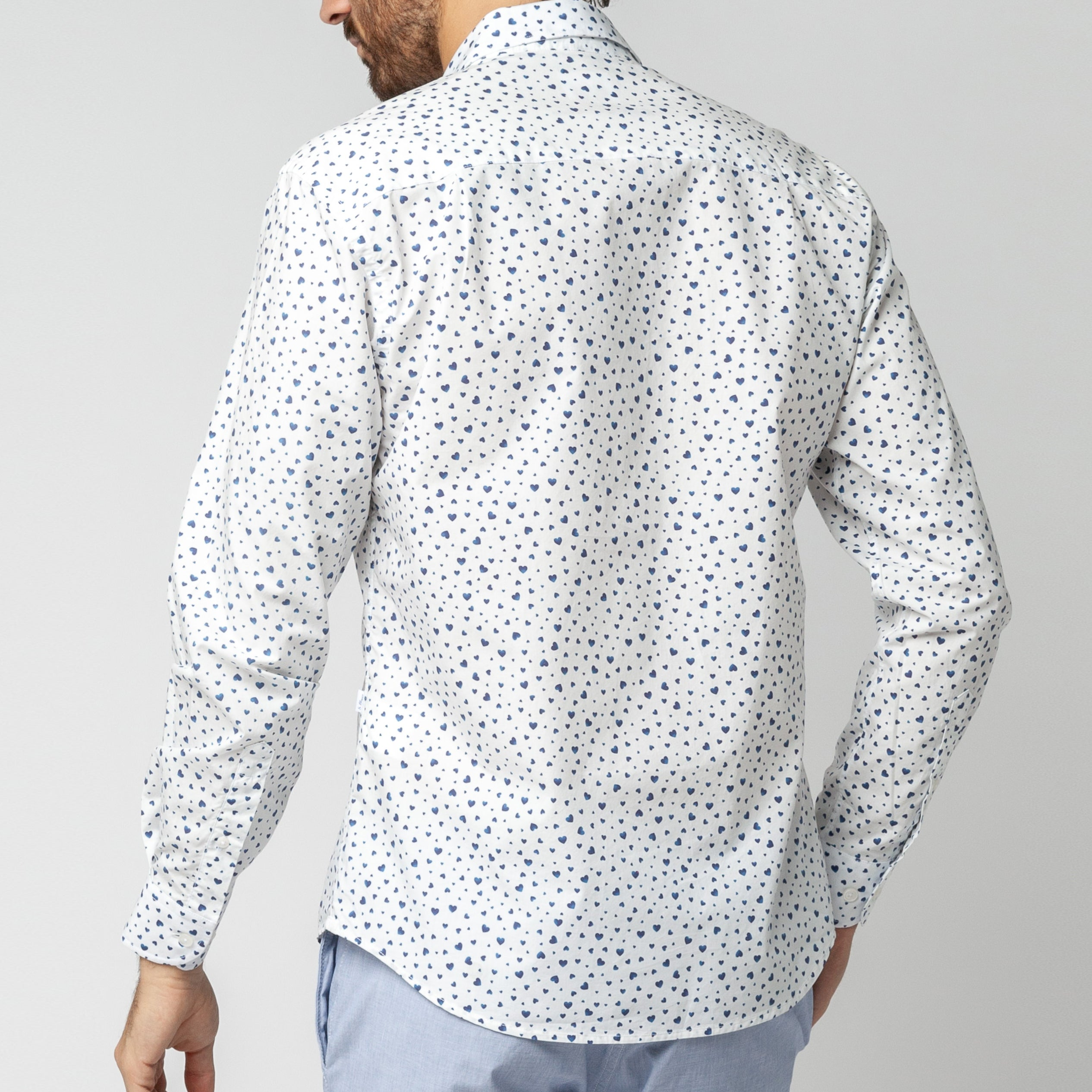 Indigo Hearts Shirt: White